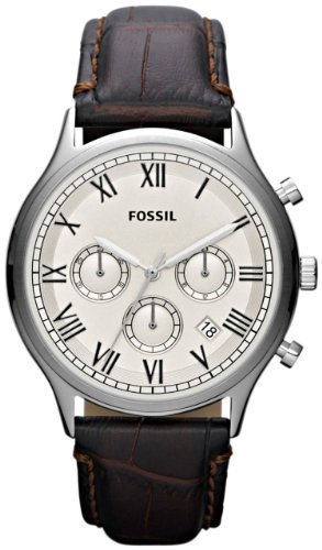 Fossil Men's FS4738 Ansel Chronograph Brown Leather Watch