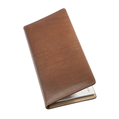St. James Leather Cheque Book Wallet - Saddle Brown