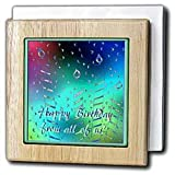 Beverly Turner Design Pastel Candles Happy Birthday from Us All Tile Napkin Holders