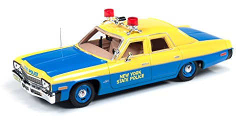 Auto World 1974 Dodge Monaco New York State Police Resin Replica Model | Scale 1:43 | Display Case and Base Included (Star Trek Resin Models compare prices)