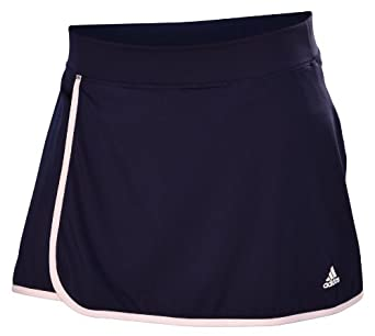 Adidas Ladies Climalite Galaxy Tennis Skort Shorts-Navy Blue by adidas