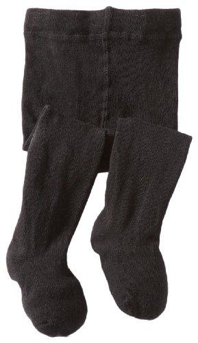 Jefferies Socks Baby Girls' Seamless Organic Cotton Tights, Black, 18 24 Months