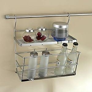 stainless steel kitchen shelf double flavoring. Black Bedroom Furniture Sets. Home Design Ideas