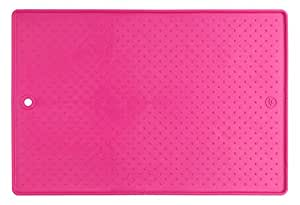 "Dexas Popware Grippmat for Pet Bowl, 13 by 19"" , Pink"