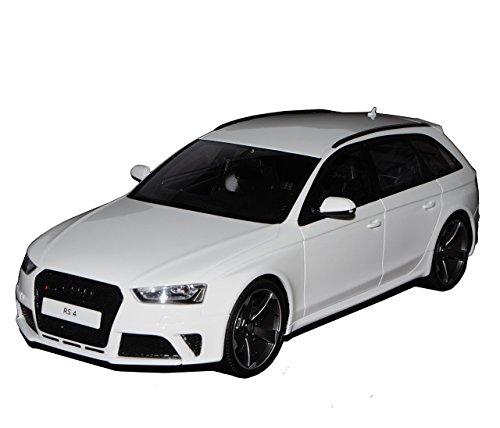 Audi-A4-RS4-B8-Avant-Weiss-Ab-2012-Nr-045-118-GT-Spirit-Modell-Auto-mit-individiuellem-Wunschkennzeichen