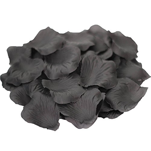 JUYO VONSAN® Artificial Rose Petals Wedding Flowers Favors 500PCS (Black)