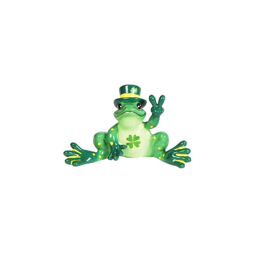 """Peace Frogs /""""Go Green Frog/"""" Figurine"""