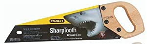 Stanley 15-025 15-Inch 9 Points Per Inch Sharp Tooth Drywall Saw
