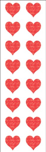 Mrs. Grossman's Stickers-Small Red Hearts