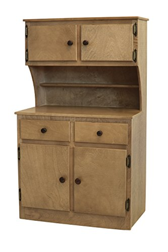 Children's Kid's Maple SINK STOVE, FRIDGE, HUTCH COMBO Play Furniture Amish Made - Harvest Finish- Amish Made USA