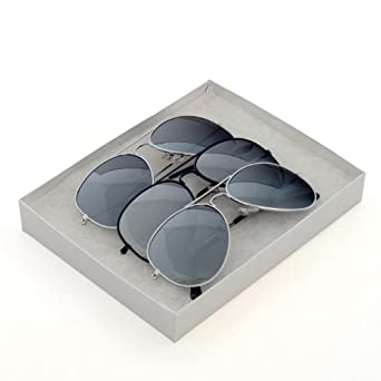 P&P Inc. Aviator Sunglasses Mirror Lens Full Metal Frame