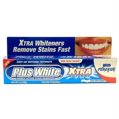 Plus White Toothpaste Peroxide Xtra Whiteners 2oz by Plus White