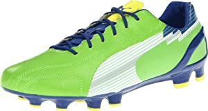 PUMA Men's Evospeed 1 K FG Soccer Cleat,Jasmine Green/White/Monaco Blue,9.5 D US