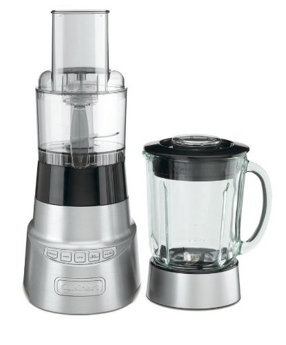 Best Price Cuisinart SmartPower Duet Deluxe 600-Watt Blender/Food Processor Features 48 oz Glass Blender Jar and High, Low, Pulse and Ice Crushing Controls, with 3-Cup Food Processor Attachment, Stainless Steel Shredding and Chopping Blades  Best Offer
