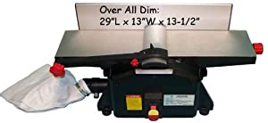 """Bench Top 6"""" Wood Jointer Joiner Planer 1-1/2hp 10000rp by Generic"""