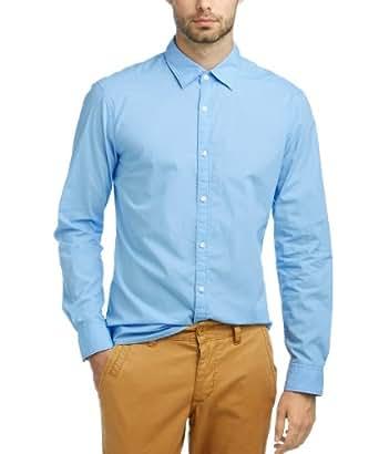 ESPRIT Herren Freizeithemd Slim Fit 993EE2F900, Gr. 50 (L), Blau (467 glacier blue)