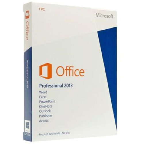Microsoft Office Professional,  2013, License Card, 1 User (PC)