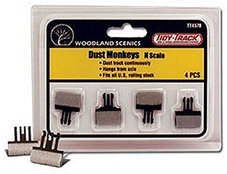 WOODLAND SCENICS TT4570 Tidy Track Dust Monkeys N WOOU4570