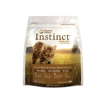 Detail image Instinct Raw Boost Grain-Free Duck Meal & Turkey Meal Formula Dry Cat Food by Nature's Variety, 12.1-Pound Bag