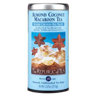 The Republic Of Tea - Almond Coconut Macaroon Red Tea Bags, 36 Tea Bags (Pack Of 3)