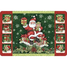 Kay Dee Cushioned Comfort Anti Fatigue Padded Throw Area Rug Kitchen Decor Mat Santa Claus
