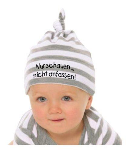 Baby Mütze NUR SCHAUEN - NICHT ANFASSEN