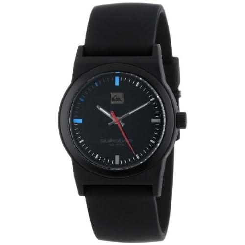 Quiksilver クイックシルバー クイックシルバー Men's QWMA013-BLK アナログ Silicone ストラップウォッチ 男性用 メンズ 腕時計 (並行輸入)