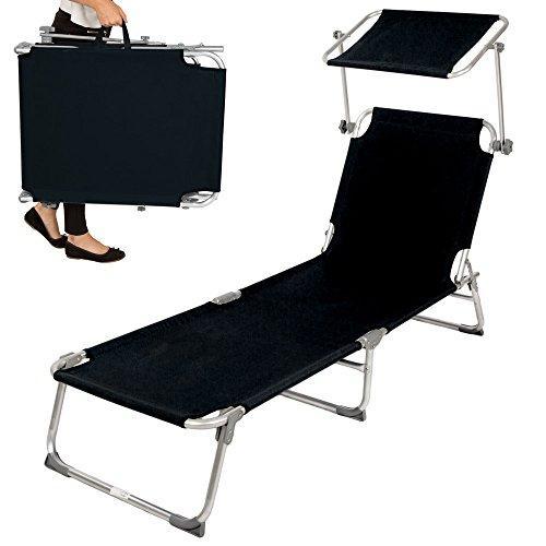 TecTake-TecTake-Aluminium-Gartenliege-Sonnenliege-klappbar-mit-Sonnendach-190cm-schwarz