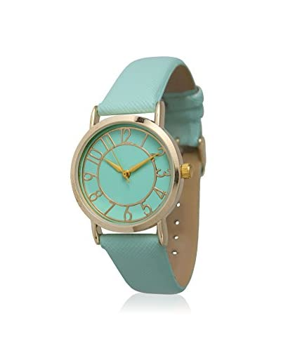 Olivia Pratt Women's 13395 Gold/Mint Leather Watch As You See