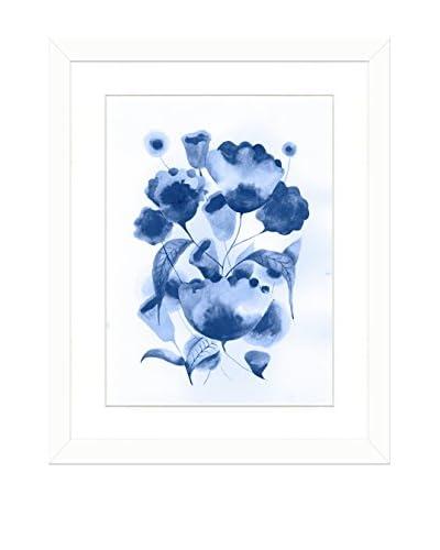 Art Source Watercolor Blue Flower Print I, Multi