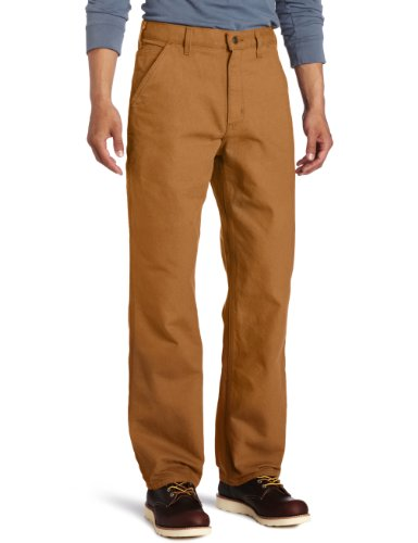 Carhartt Men's Washed Duck Work Dungaree Utility Pant B11,Carhartt Brown,34 x 32 (Duluth Pants compare prices)