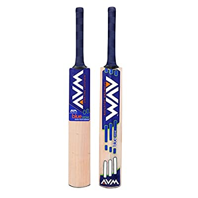 AVM Blue Stone Kashmir Willow Cricket  Bat (Short Handle, 1025 g)