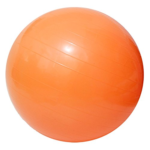 Yoga Fitness Ball Anti-Burst and Slip Resistant Ball with Pump (orange, M: Diameter:55cm/21.6