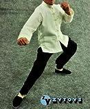 ZYTOYS製 カンフー コスチューム (長袖 白) 1/6サイズ アクションフィギュア対応 ホットトイズ エンターベイ 葉問 イップマン ジャッキー ジェットリー等に