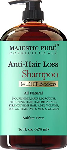 Hair Loss and Hair Regrowth Shampoo for Men & Women From Majestic Pure Offers Potent Natural Ingredient Based Product, Add...
