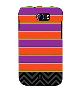 Horizontal Pattern Design 3D Hard Polycarbonate Designer Back Case Cover for Micromax Canvas 2 A110 :: Micromax Canvas 2 Plus A110Q