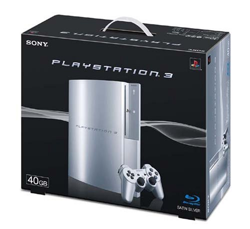 PLAYSTATION 3(40GB) サテン・シルバー