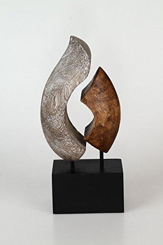 Grande complemento d'arredo in legno massiccio, 39cm, 17x8x39 cm, Legno, Marrone