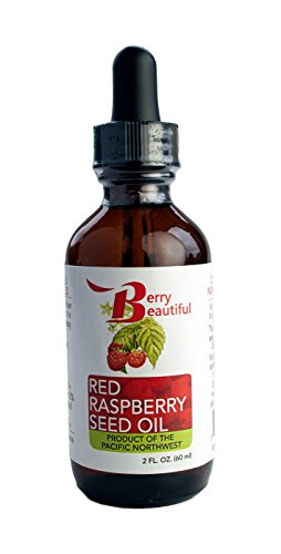 Red Raspberry Seed Oil - 2 Fl Oz (60 mL) Glass Bottle w/ Dropper - 100% Pure, Natural & Cold Pressed - Berry Beautiful