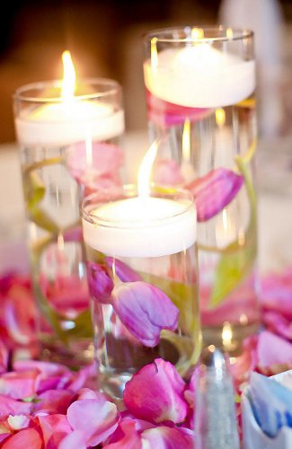 Spring Rose(TM) 3 Inch White Wedding Floating Candles-set of 20 (2 Boxes of 10 candles)