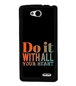 Life Quote 2D Hard Polycarbonate Designer Back Case Cover for LG L90