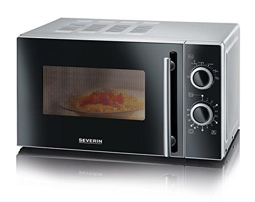 severin-mw-9721-forno-microonde-capacita-20-litri-argento-nero