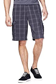 North Coast Pure Cotton Overdye Checked Shorts