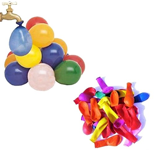 Mylife Multi Colored - Flexible Latex Rubber (100 Count Pack - Standard Size) Water Bomb Grenade Balloons (Fantastic For Water Balloon Fights)