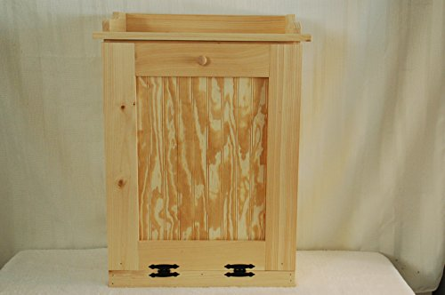 Kenzie's Kreations Handcrafted Wooden Trash Can, 13 Gallon (Kitchen Wood Trash Bin compare prices)