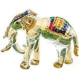 Handmade Elephant Art Glass Blown Wild Animal Figurine - No.1