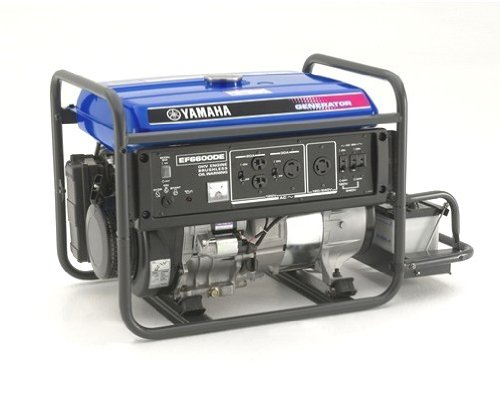 Yamaha EF6600DE 6,600 Watt 357cc OHV 4-Stroke Gas Powered Portable Generator With Electric Start (CARB Compliant)