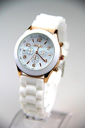 Classic Womens Girls Mens Boys Geneva Silicone Jelly Gel Quartz Analog Sports Wrist Watch