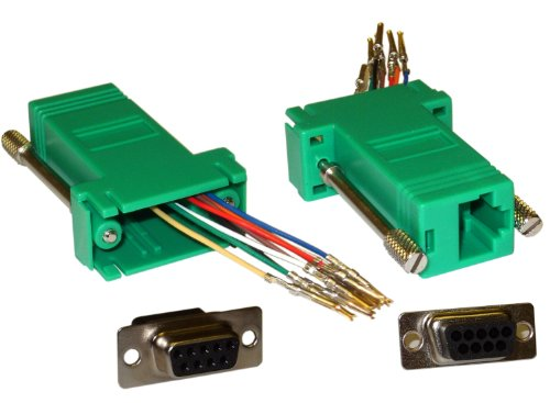 Offex Of-31D1-1740Gr Modular Adapter, Db9 Female To Rj45 Jack, Green