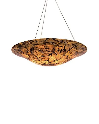 Varaluz Big 4-Light Pendant, Chocolate Tiger Shell